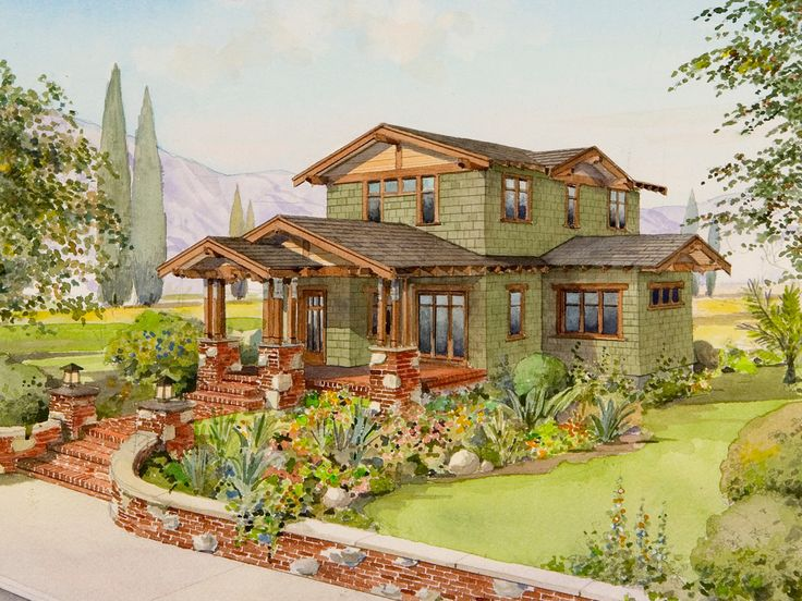 The larkspur house plans craftsman bungalow house - What is a bungalow home ...