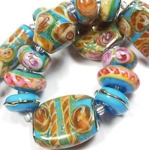 Quinlan Glass Under The Tuscan Sun Handmade Lampwork Glass Beads