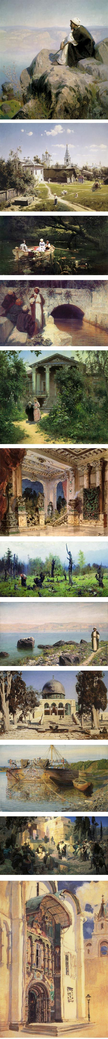 Vasily Polenov | Lines and Colors :: a blog about drawing, painting, illustration, comics, concept art and other visual arts
