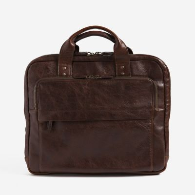 Our super slim Jay Modern Briefcase was created with just the right mix of style and functionality for today's urban man. Designed in consult with Brooklyn-based design duo Becka Citron and John Marsala of Modern Anthology, it offers all the advantages of a standard briefcase packed into in a space-saving, streamlined silhouette.