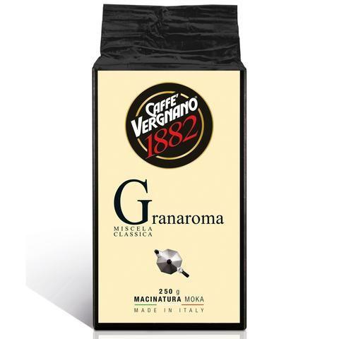 Caffè Vergnano 1882 - Coffee Gran Aroma Moka Ground. 250g - Pasticcini