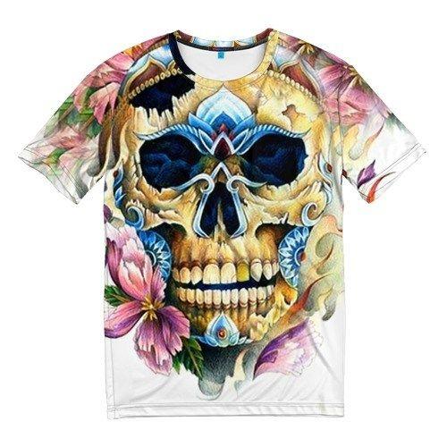 Мужская 3D-футболка Череп