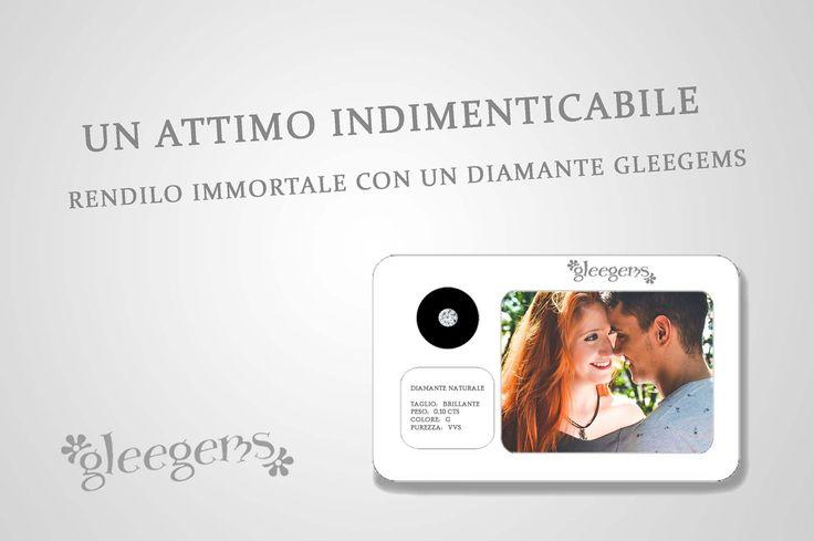 Ordina un diamante Gleegems con la tua foto personalizzata, per rendere immortali i tuoi momenti più belli. www.gleegems.it