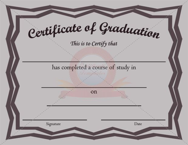 20 best images about GRADUATION CERTIFICATE TEMPLATES – Graduation Certificate Template