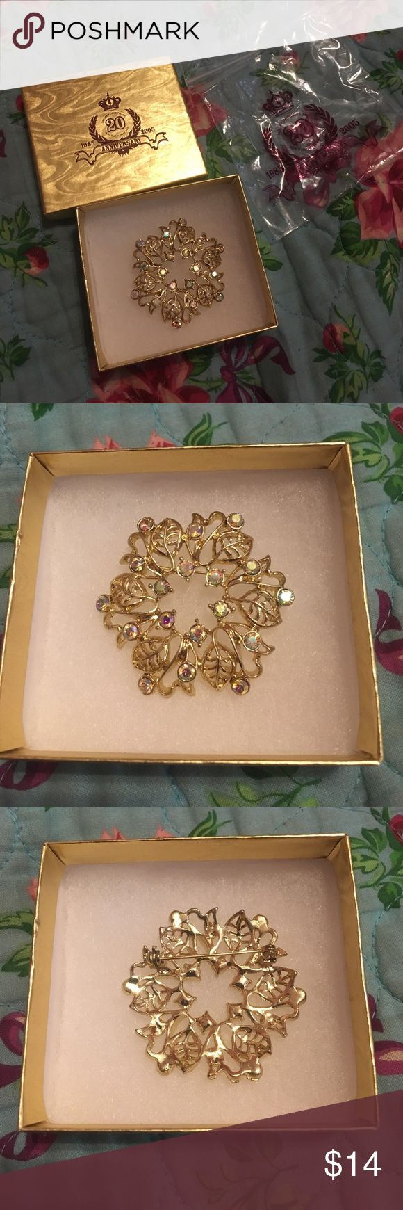 """Premier Designs INC. """"Points Of Light"""" Pin/Brooch Never worn still has original packaging. For their 20th anniversary. No missing jewels. Premier Designs Jewelry Brooches"""
