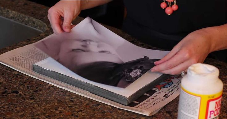 How to Transfer Photos Onto Canvas (video)