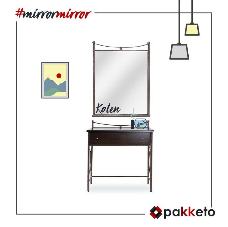 -Καθρέφτη, καθρεφτάκι μου... είσαι μοντέρνος, ποιοτικός και οικονομικός, γιατί είσαι #pakketo ! Παραγγελίες εδώ: https://www.pakketo.com/toyaleta-loustro-n32-me-kathrepti-ha