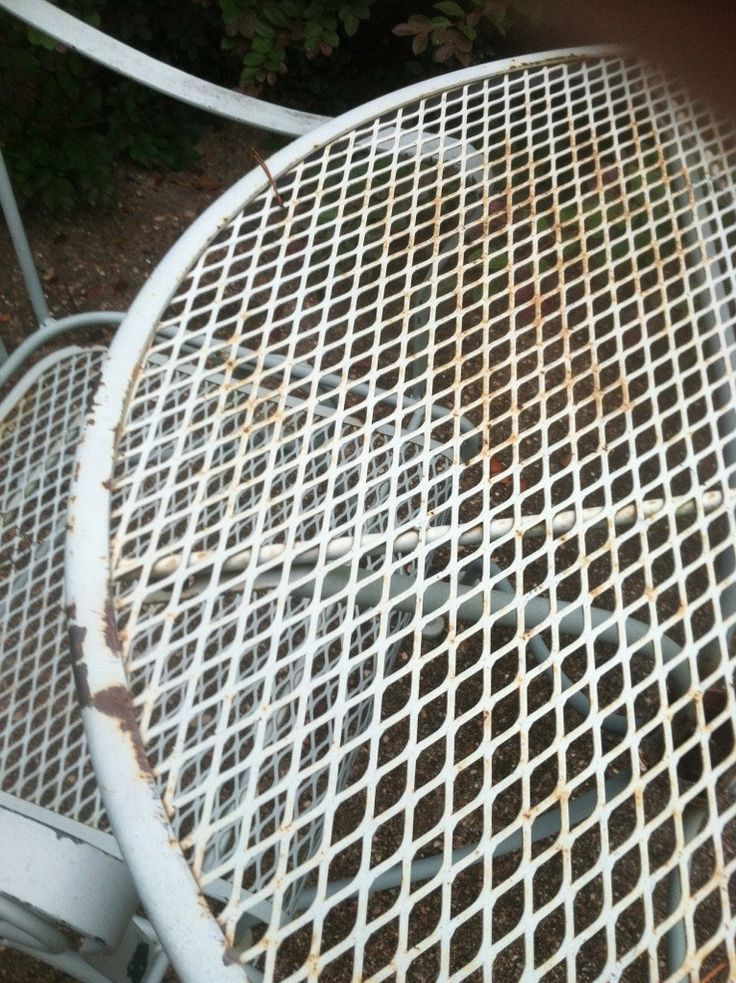 repainting metal patio furniture