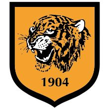 Hull City badge 2014  See all Premier League clubs' social media profiles in the keebits App.   Get the app on www.keebits.com