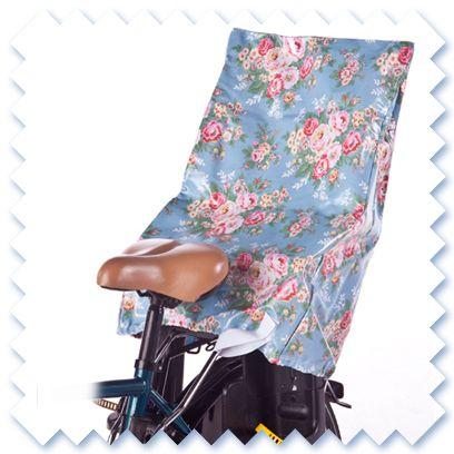 Fahrrad-Kindersitz-Bezug (Überzug) von Regenwölkchen auf DaWanda.com