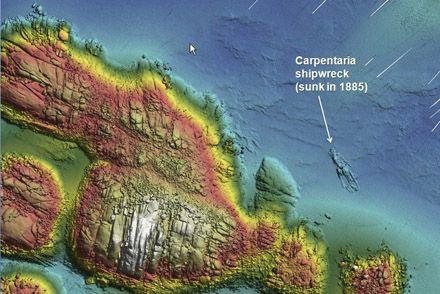 Historic shipwreck, the Carpentaria