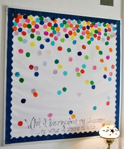 What I love most about my classroom is who I share it with. Positive Bulletin Board Confetti High School Bulletin Board Ideas Heatheryish Blog