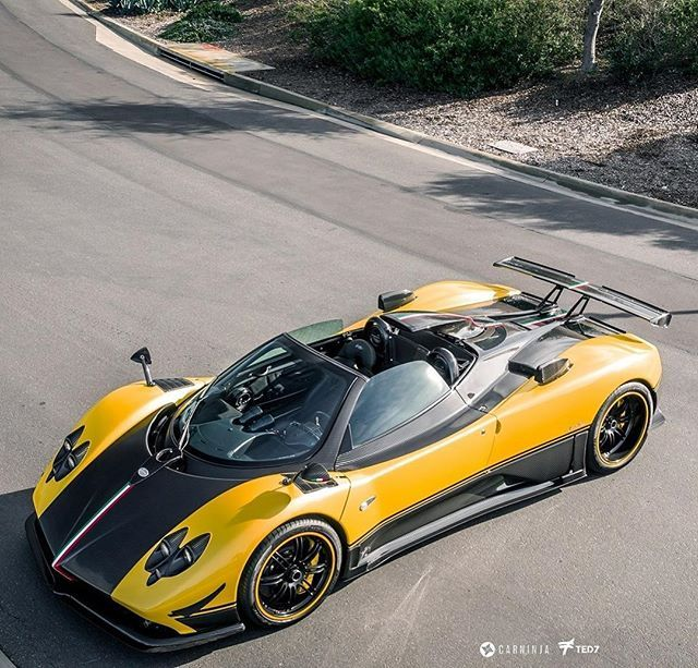 Yellow Zonda Cinque Roadster : @iamted7 @carninja