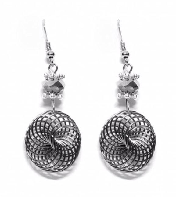 Spiral mesh drop earrings!