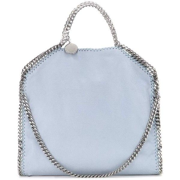 Stella McCartney Falabella Small Shoulder Bag (3.495 BRL) ❤ liked on Polyvore featuring bags, handbags, shoulder bags, blue, blue purse, stella mccartney, blue shoulder bag, shoulder bag handbag and stella mccartney handbags