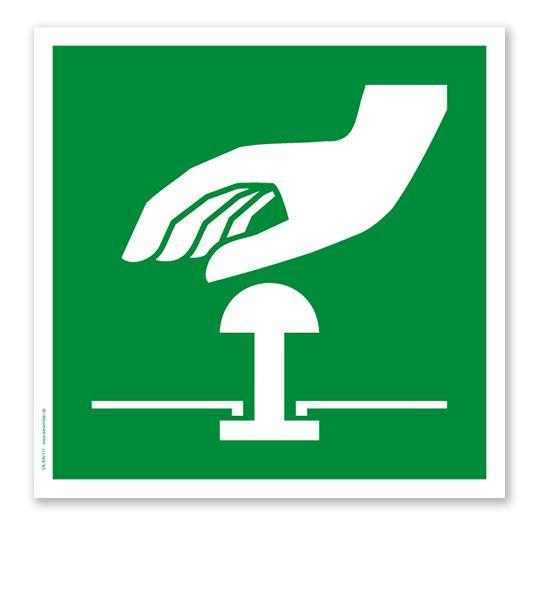 Rettungszeichen Not-Halt-Knopf nach DIN EN ISO 7010 #nothaltknopf #not_halt_knopf