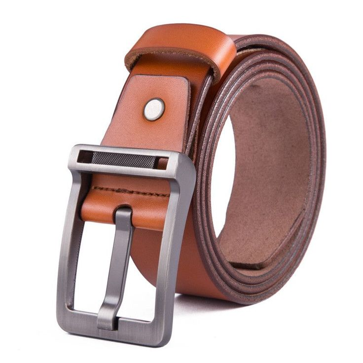 Item Type: Belts Belt Width: 3.7 cm Pattern Type: Solid Department Name: Adult Style: Fashion Gender: Men Brand Name: None Buckle Length: 7.2 cm Belts Material: Metal Belts Material: Cowskin Buckle Wi
