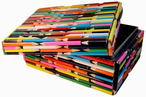 Boîte en crayons de couleur