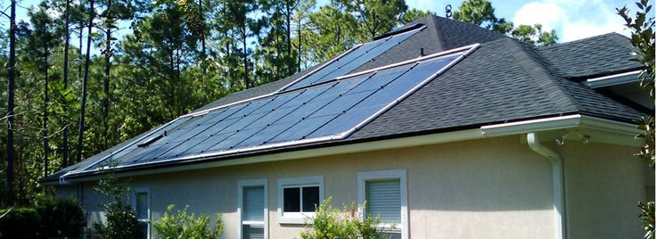 How to install solar panels to heat a pool - http://simplepooltips.com/install-solar-panels-heat-pool/