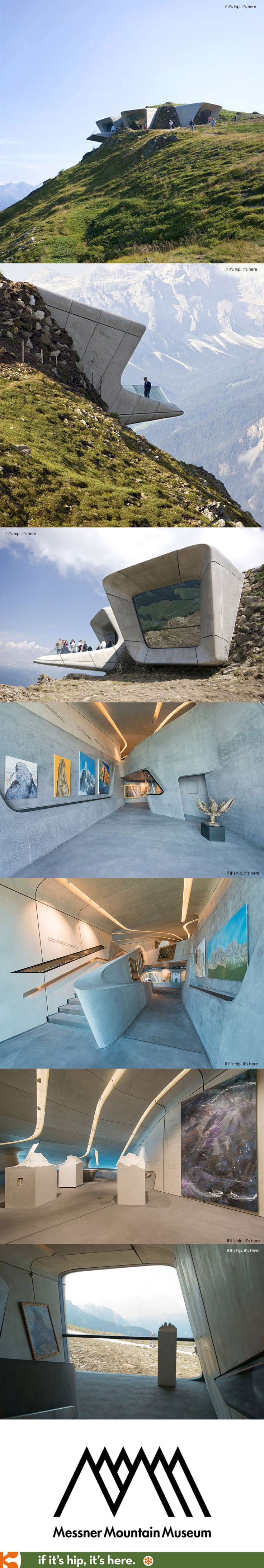 Futuristic architecture by Zaha Hadid: the Messner Mountain Museum easily blends sci-fi architecture and nature. // Futuristische Architektur Zaha Hadids: Das Messner Mountain Museum vereint Sci-fi Architektur gekonnt mit der natürlichen Umgebung. #FutureLiving #futuristic #MessnerMountainMuseum #ZahaHadid #Architecture