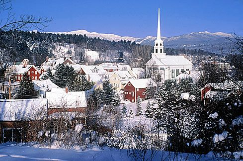 Stowe VT in winter