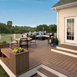 Deck idea Like frame around outside and Colors