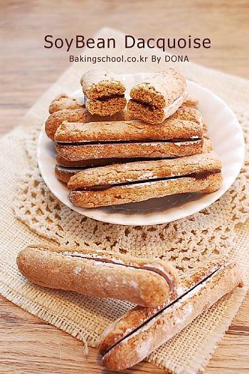 Soybean Dacquoise | Bakingschool.co.kr