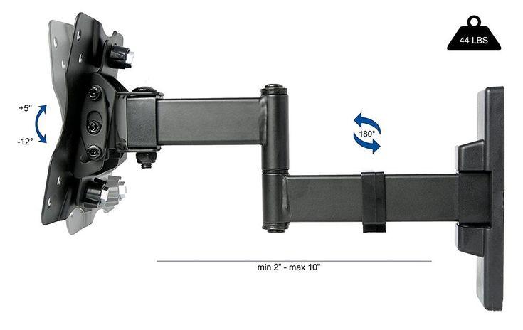 TV Wall Mount Bracket Flat Screen Computer Monitor Arm Swivel VESA #VIVO #Custom