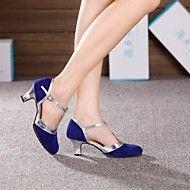 Latin Women's High Heels Cuban Heel Suede Dance Shoes (More Colors)