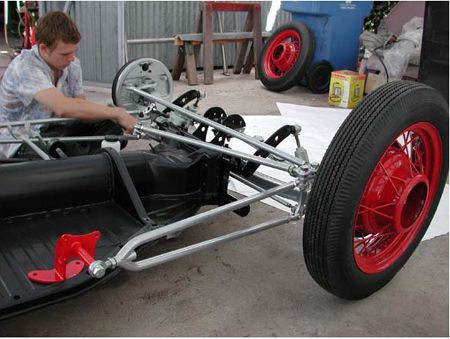 Front IBeam Axle Kit and wire wheels Ford Project Car