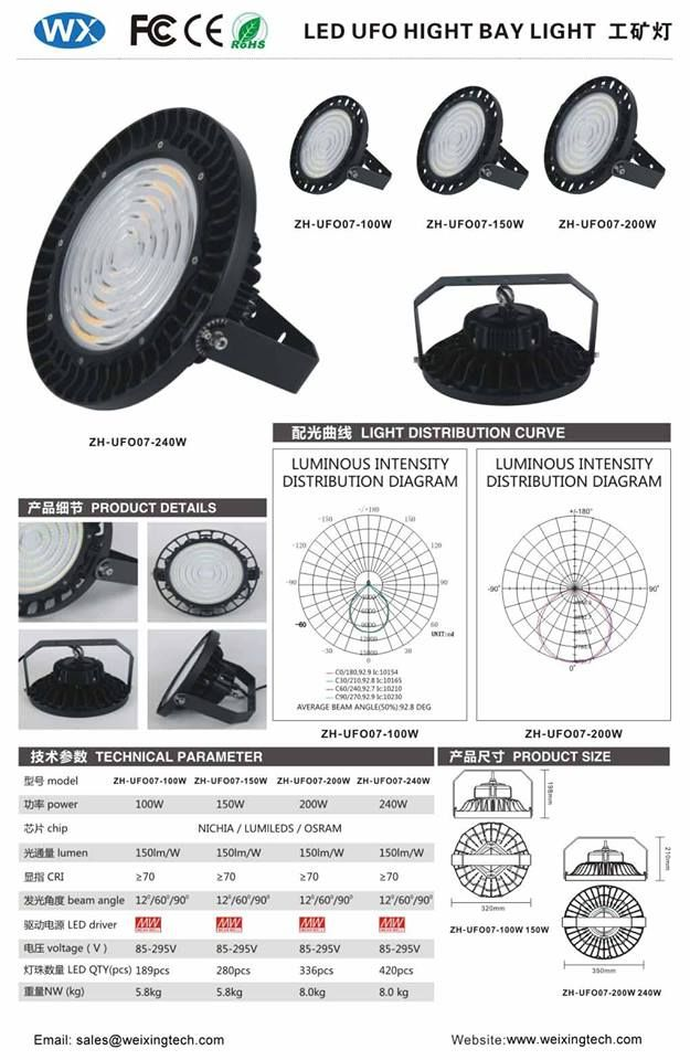 High Quality LED UFO High Bay Light with 190LM/W with CE RoHS FCC certified, tested in lab. If you have any interest, please feel free to contact us  :-D #Weixingtechledlights #LEDUFOhighbaylight #LEDFloodLight #LEDhighbaylight #LEDlightfactory #LEDlightmanufacturer #highqualityledhighbay