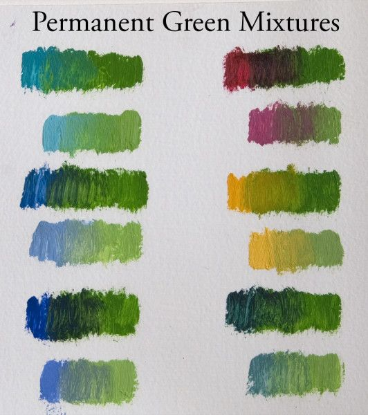 Liz Floyd Permanent-green-mixtures