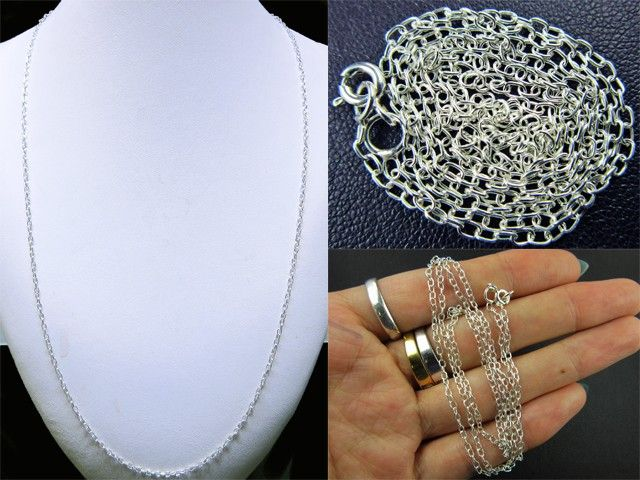 3 PACK NECKLACE SILVER CHAIN 925 CHAIN 56CM CMT 30 silver jewelry ,silver necklace  silver chains