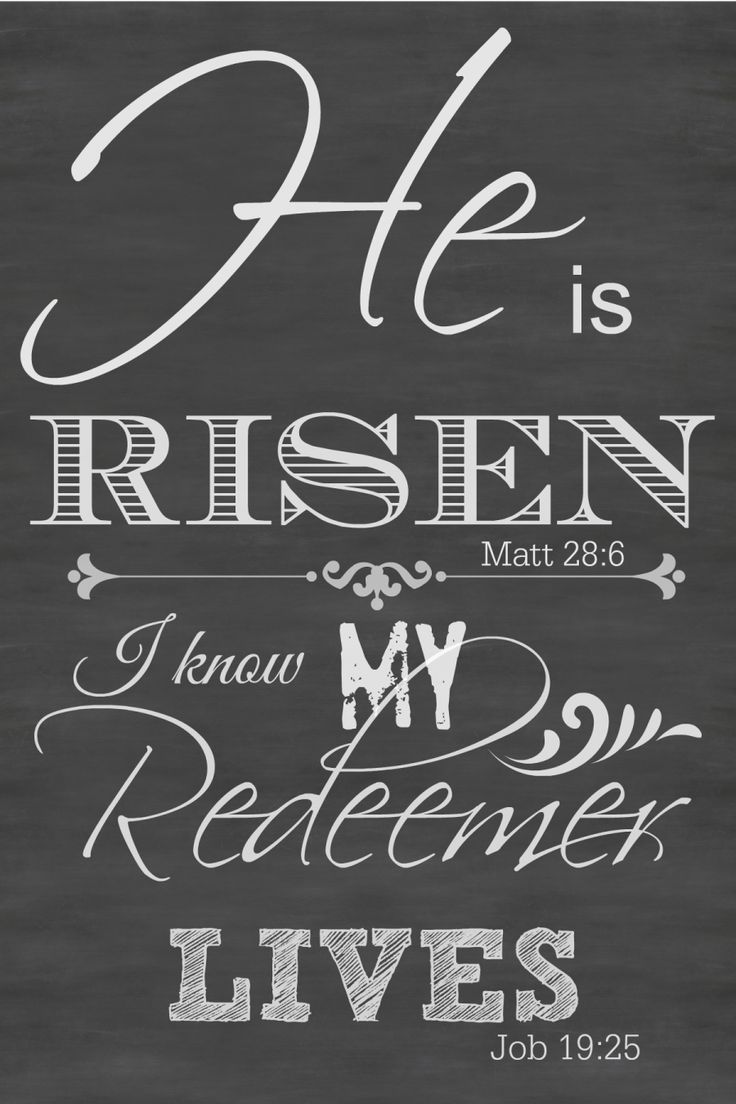 HE IS RISEN Printable chalkboard art suitable for framing. Perfect for Easter
