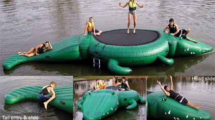 gator water trampoline...... @April Cochran-Smith Cochran-Smith Mathewson....you could have a fun gator in front of your house!!