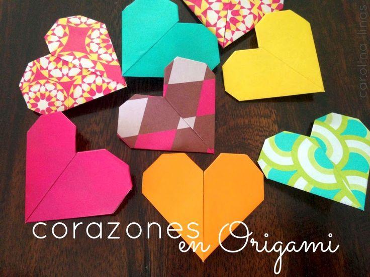 Nuestro Mundo Creativo: Cómo hacer corazones en origami