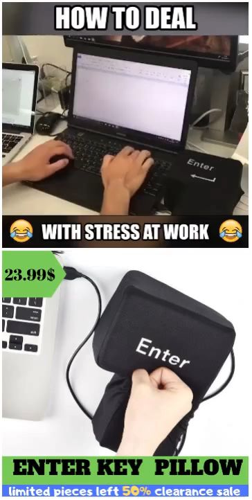 The Stress Reliever ENTER KEY PILLOW
