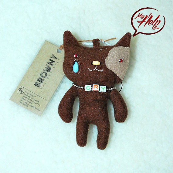 01 Browny  The Cry Baby  9 Lives Cat Project  by MayIHelpU on Etsy, $8.00