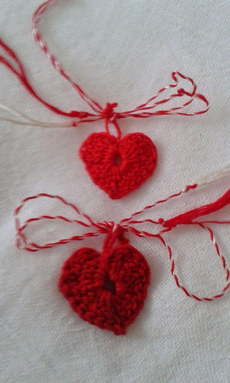 Pasiuni creative: Inimioare croșetate /mărțișoare