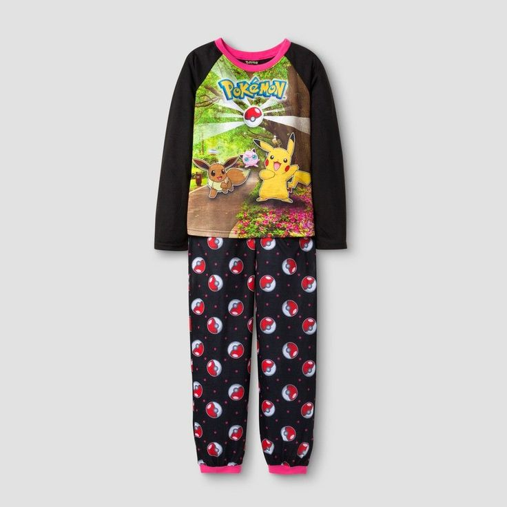 Girls' Pokemon Pajama Set - Black 8