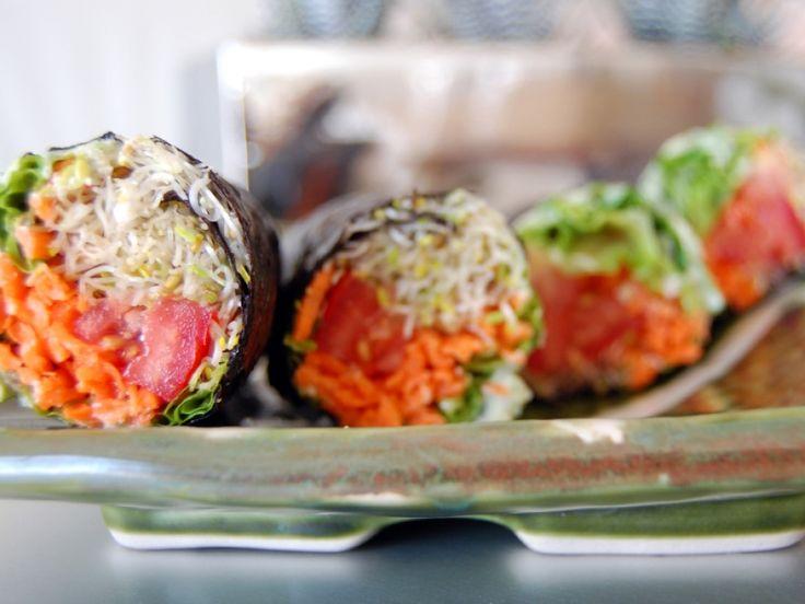 Raw Vegan Recipes  No-Rice Raw Vegan Sushi