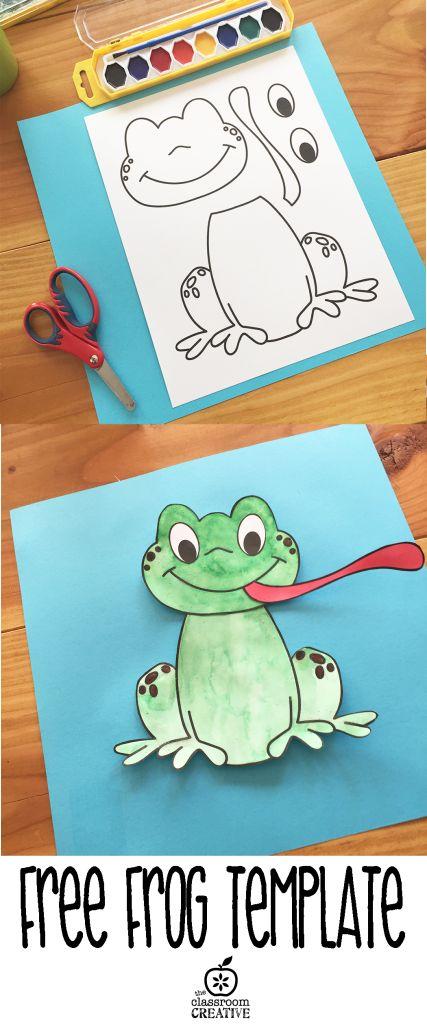 free printable frog template