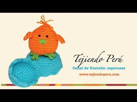 Pollitos tejidos en crochet (amigurumi) Parte 2 - YouTube