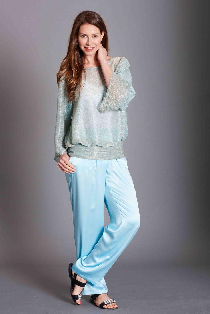 Summer Range Aqua Silk pant and Aqua Shimmer Baz T Stunning pieces for the summer months perfect travel essentials