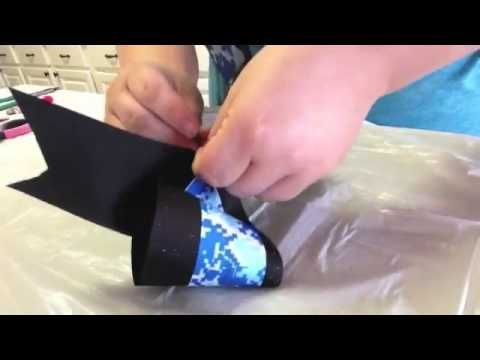 How To Make Cheer Bows Without Sewing - YouTube #rrrcheerbows
