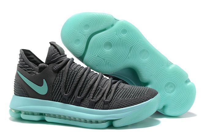 Nike Kevin Durant 2017 2018 Daily Nike Zoom KD 10 Elite Kevin Durant X For Discount With High Quality Nike Basketball Shoes Grey Jade Green 2017 Lastest Release