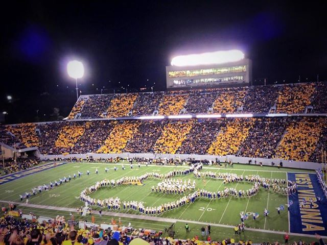 WVU stripe the stadium 2013