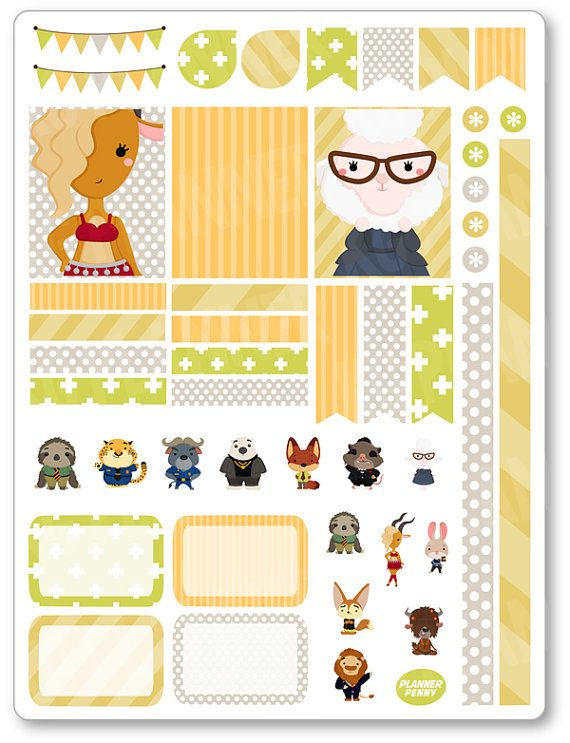 Reino animal decoración Kit / extensión semanal por PlannerPenny