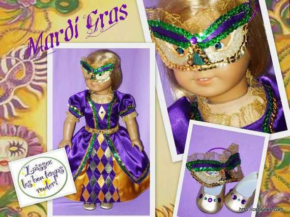 Mardi Gras mask and costume for AG