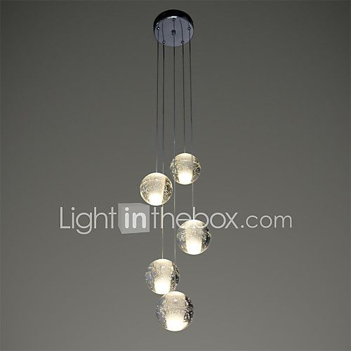 UMEI™ Modern Pendant Lights Pendant Lamp 5 Lights G4 Retroifit Chrome Plating Crystal for Dining Room Stairs Light 2017 - £136.45